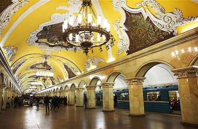 Komsomolska metro station, Moscow
