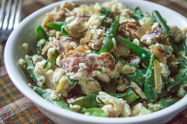 Sauteed Green Beans With Bacon and Egg Whites