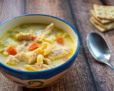 Chicken Sopas Filipino-Style (Creamy Chicken Macaroni Soup)