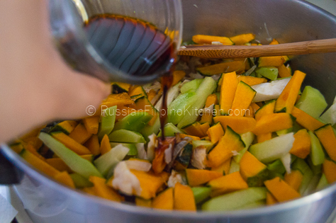 Sautéed Chayote and Squash With Shredded Fish (Ginisang Sayote at Kalabasa) 12