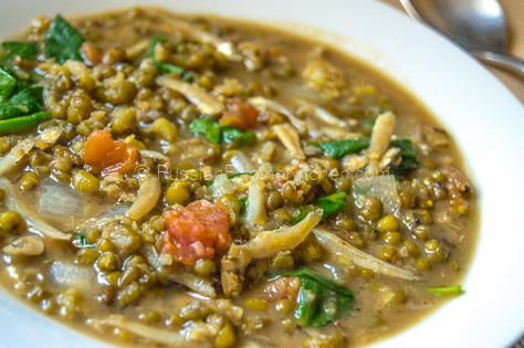 Ginisang Munggo With Dilis (Sauteed Mung Beans With Salted Dried Anchovies) 12