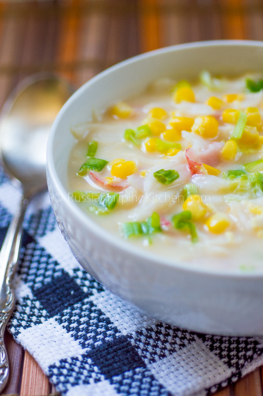 creamy crab and corn soup 01