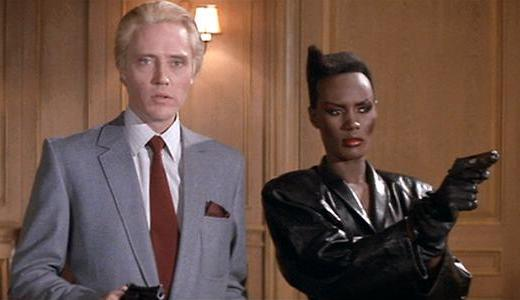 Christopher Walken and Grace Jones make a villainous pair in A View to a Kill