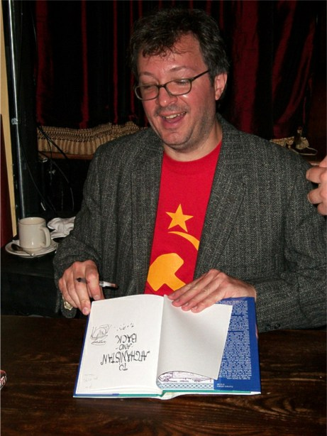 ted rall communist racist controversy book signing cartoonist author