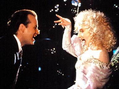 scrooged and christmas present