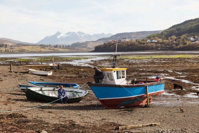 Some Boats, A Rabbit And The Cuillins