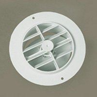 "D&W INC. 3840RWH RV Trailer Camper Air Conditioners Heat Vent 4"" White Dampered Plastic"