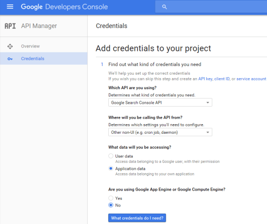 Google search console api r guide to get started - Google developper console ...