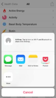 Apple HealthKit Export 3