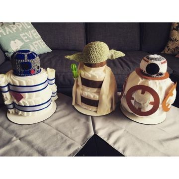 Best diaper arrangement I've seen! By @guamgirlclaire & Tyler. #starwars #babyshower #diapers