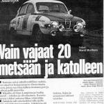 Saab palasi Jyskälän voittokantaan 1972