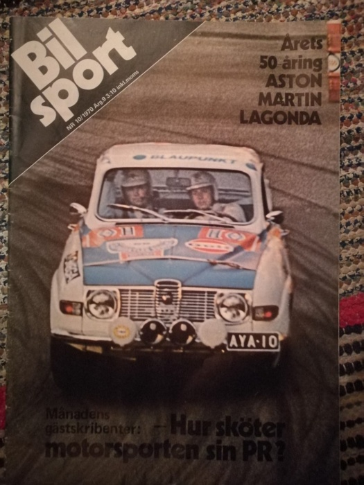 Cover of the Swedish Bilsport- magazine 1970