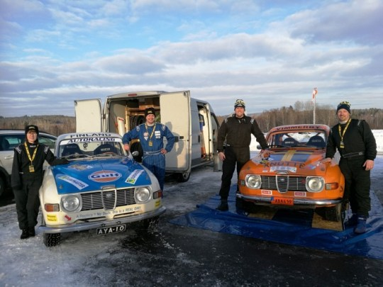 Finnish Swedish Saab team. Thank you Anders and Christian, good mates.