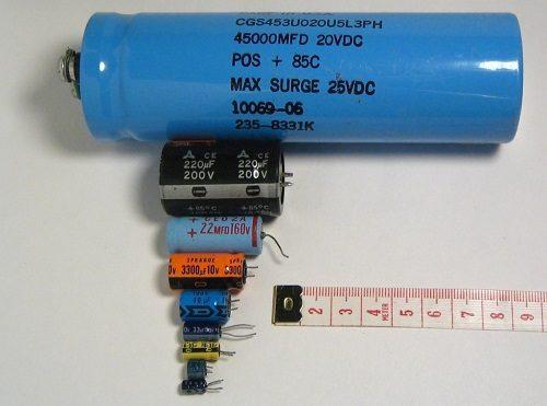 Comparado valores dos capacitores