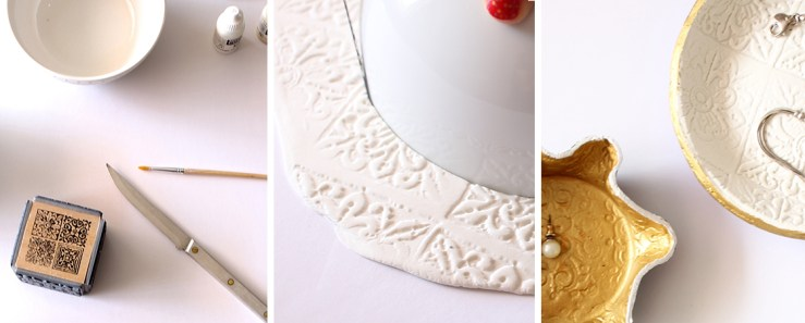 DIY: Stamped Trinket Dishes