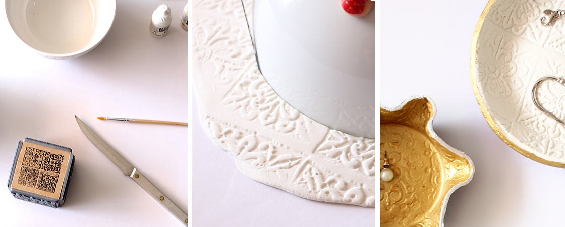 DIY: Stamped Trinket Dishes