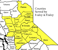 Map of Counties Served By Fraley & Fraley Bankruptcy Attorneys