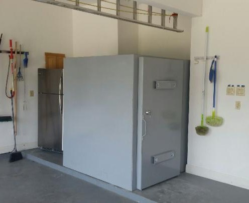 Steel safe room photo gallery they are custom built for Vault room construction