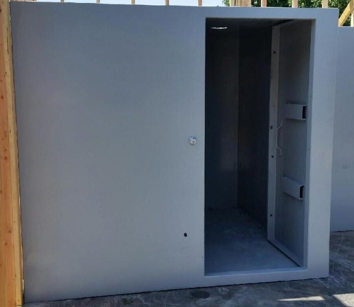 Safe room sizes each safe room is custom built for Custom safe rooms