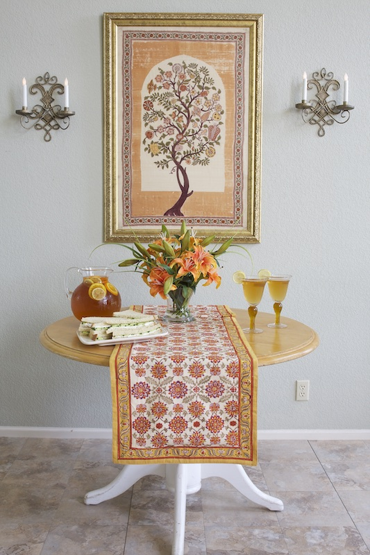 persian_orange_floral_table_runner_for_round_table