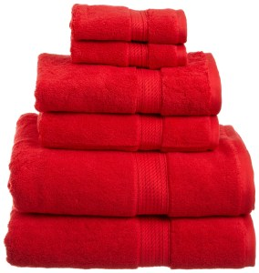 Egyptian Towels, Red - Amazon