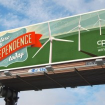 Billboard featuring Stolarski's design for CPS Windtricity campaign.