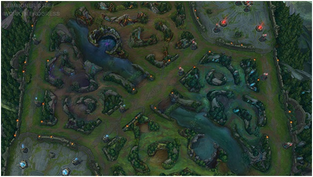 Maps and Lanes of League of Legends