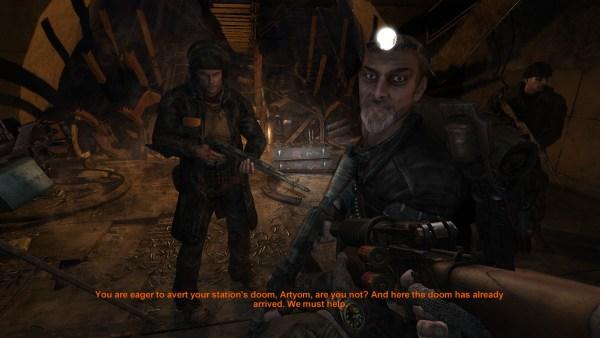 Metro 2033 playing with subtitles.