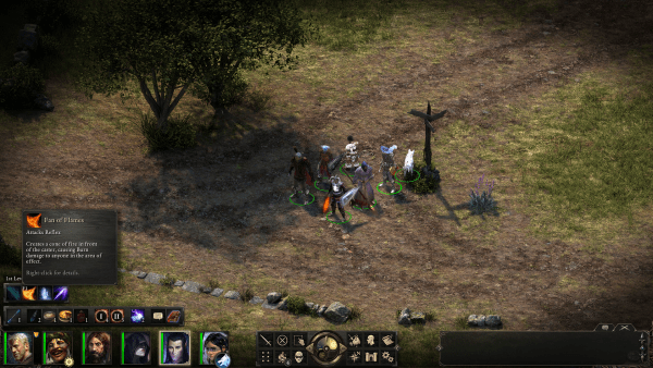 Pillars of Eternity gameplay screenshot.