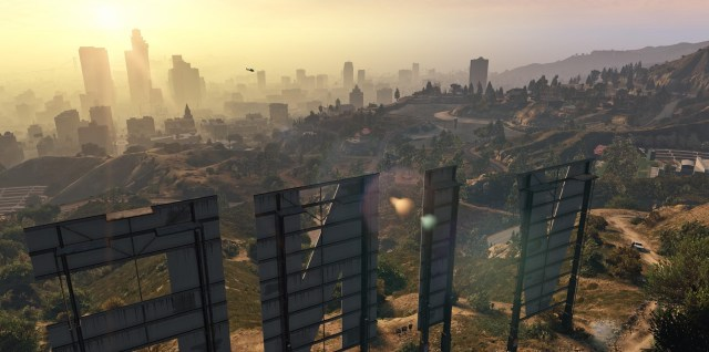 GTA V screenshot of Los Santos