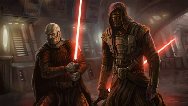 Darth Revan with Malak.