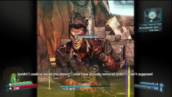 Fighting Handsome Jack in Borderlands 2