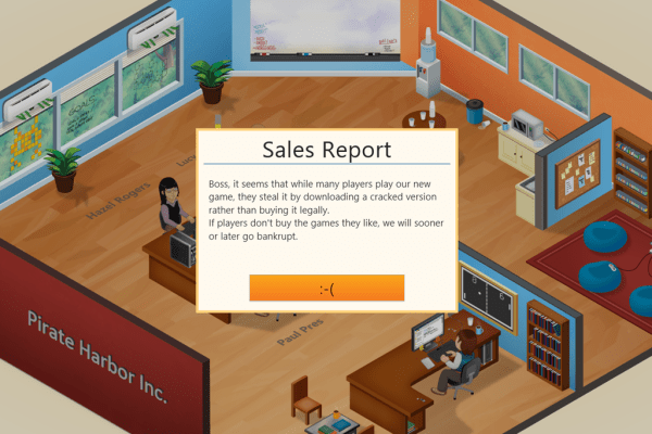 Game Dev Tycoon pirated version