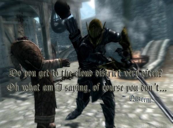 Nazeem killed by the Dragonborn