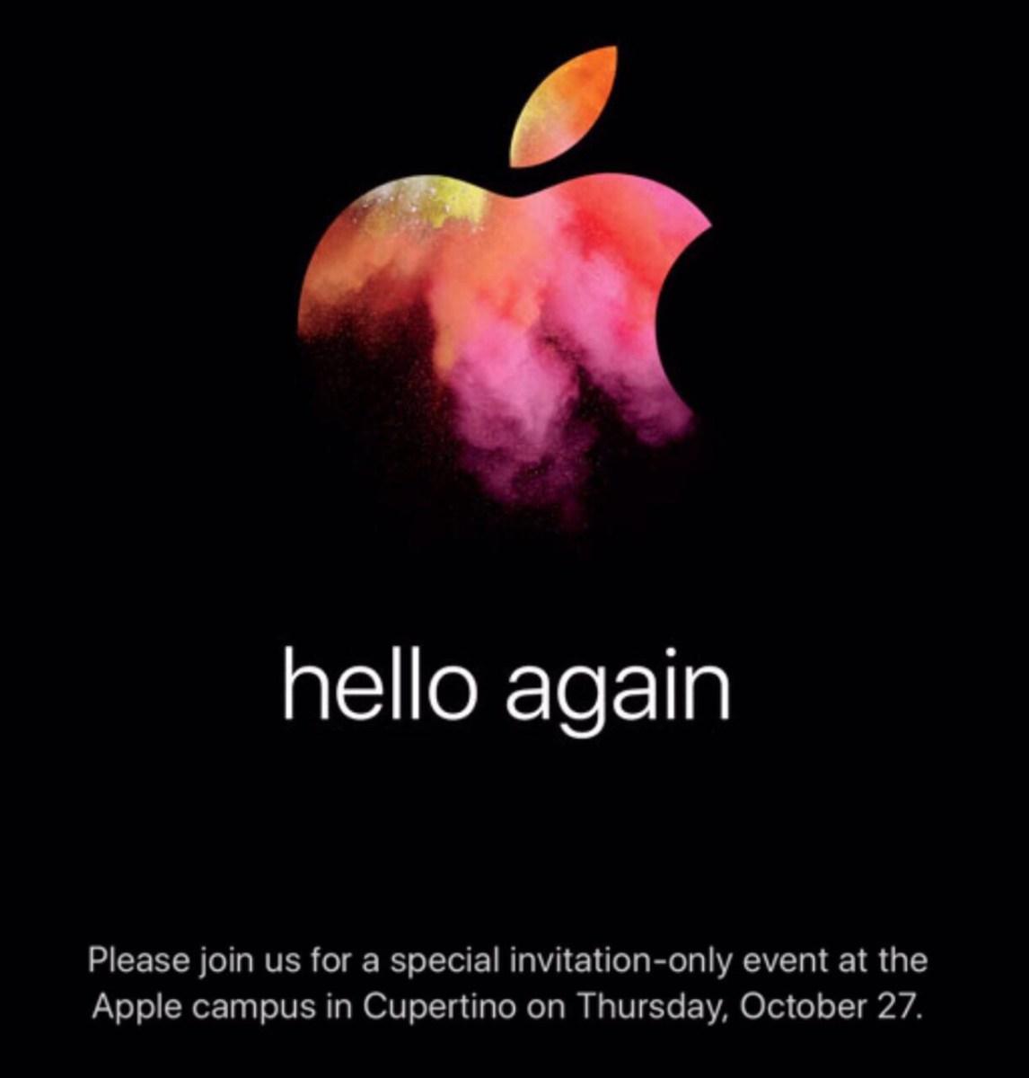 Apple conferma l'evento del 27 ottobre (e presenzierà al prossimo Mobile World Congress)
