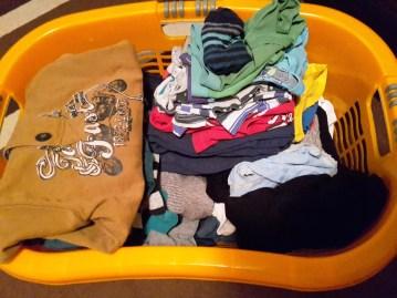 Wäsche gefaltet