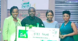 L-R: Brand Building Director Foods, Unilever, Nsima Ogedi-Alakwe; WINNER of Knorr Taste Quest Season 4, Nahvi Ifode; Brand Manager Knorr, Unilever, Jennifer Okpoyo and Category Manager Savoury, Unilever, Nnenna Osi- Anugwa at the Grand Finale of Knorr Taste Quest Season IV recently.