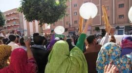 مظاهرة تنسيق المعطلين في العيون المحتلة