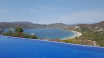 a day at the Pool above Playa Ropa, view of Bahia Zihau