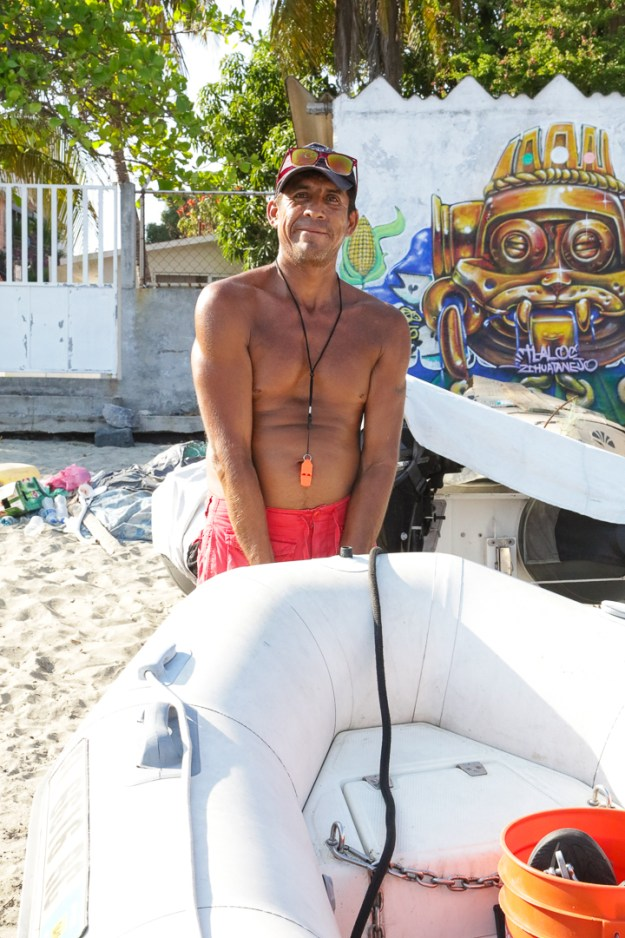 Mateo, Dinghy Attendant extraordinaire