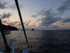 Sundown on the bow