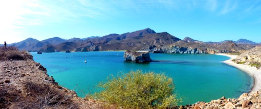 Caleta San Juanico in the Sea of Cortez, Mexico