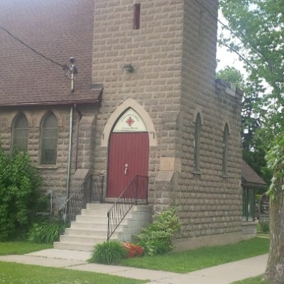 Entrance to Christ Church Anglican in Ayr. (Home of St. Brigid's Catholic Community.