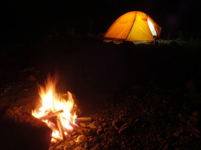 160807三峰川焚き火とテント