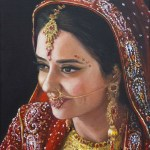 In Bridal Dress and Jewellery