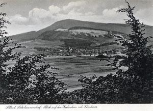 Alte Postkarte mit Ansicht von Lauenstein aus