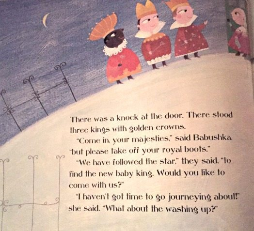 From Babushka retold by Sandra Ann Horn and illustrated by Sophia Fatus (2002).