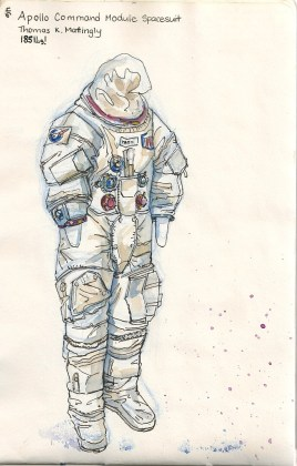 sketch of a space suit
