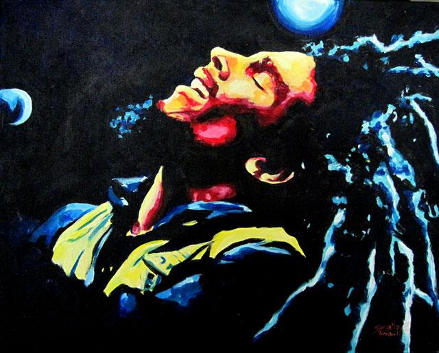 """SOLD: Bob Marley 30""""x40"""""""