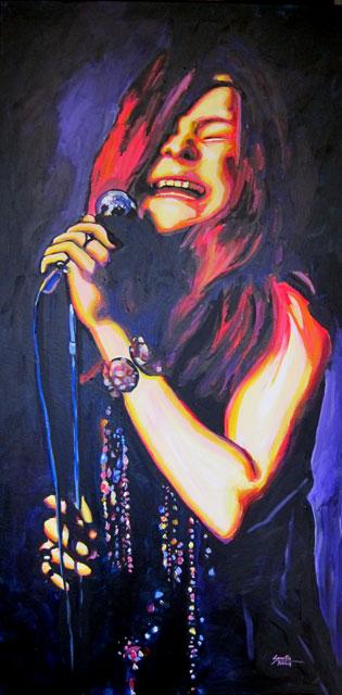 "Janis Joplin 24""x48"""